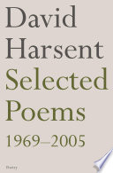 Selected Poems David Harsent : of poetry, from a violent county...