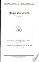 United States Congressional Serial Set, Serial No. 14957, House Document No. 19, Statement of Disbursements of House, Jan. 1-March 31, 2005, Pt. 1