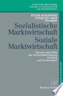 Sozialistische Marktwirtschaft Soziale Marktwirtschaft