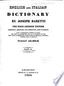 Dizionario Italiano, Ed Inglese: English and Italian