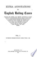 Extra Annotations to English Ruling Cases