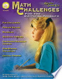 Math Challenges for the Critical Thinker  Grades 5   8