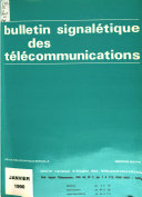 Bulletin signal  tique des t  l  communications