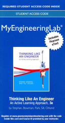 MyEngineeringLab with Pearson EText -- Access Card -- for Thinking Like an Engineer Review Your Course Syllabus To