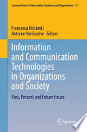 Information and Communication Technologies in Organizations and Society