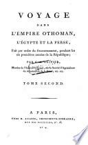 Voyage dans l'empire Othoman, l'Egypte et la Perse