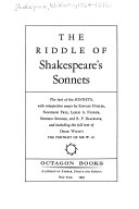 The riddle of Shakespeare's sonnets