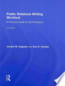 Public Relations Writing Worktext