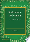 Shakespeare in Germany, 1740–1815