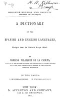 A Dictionary of the Spanish and English Languages  Abridged from the Author s Larger Work