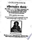 Oorspronck van 's Hertogen-bosch