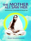 download ebook the mother as i saw her: reminiscences of holy mother sri sarada devi pdf epub