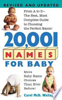 20 001 Names For Baby