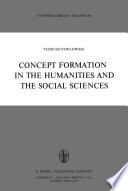 Concept Formation in the Humanities and the Social Sciences