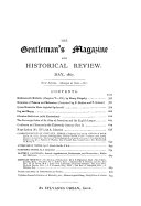 The Gentleman's Magazine, and Historical Review