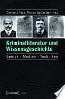 Kriminalliteratur und Wissensgeschichte