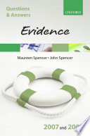 Q And A Evidence 2007 2008 5th Ed  book