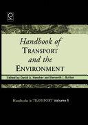 illustration Handbook of Transport and the Environment