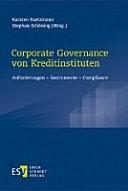 Corporate Governance von Kreditinstituten
