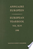 Annuaire Europeen 1998   European Yearbook 1998