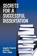 Secrets for a Successful Dissertation