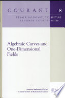 Algebraic Curves And One Dimensional Fields