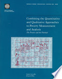 Combining The Quantitative And Qualitative Approaches To Poverty Measurement And Analysis book