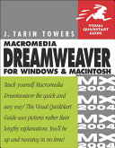 Macromedia Dreamweaver MX 2004 for Windows and Macintosh