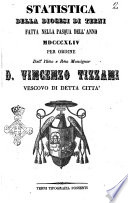 Statistica della diocesi di Terni fatta nella Pasqua dell anno 1844 per ordine dell illmo e rmo monsignor D  Vincenzo Tizzani vescovo di detta citt