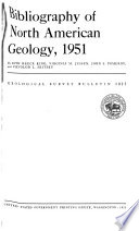 Bibliography of North American Geology  1951