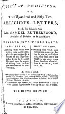 Joshua redivivus, or Mr Rutherford's letters