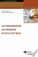 Les Transformations des Universités du Xiiie Au Xxie Siècle