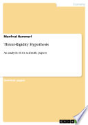 Threat Rigidity Hypothesis