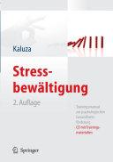 Stressbewaltigung Trainingsmanual Zur Psychologischen Gesundheitsforderung