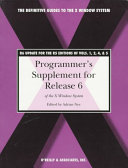 Programmer's Supplement for Release 6 of the X Window System, Version 11