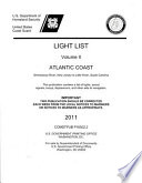 Light List  2011  V  2  Atlantic Coast  Toms River  New Jersey to Little River  South Carolina