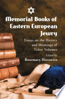 Memorial Books of Eastern European Jewry Book PDF