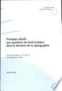 illustration du livre Principes Relatifs Aux Questions de Droit D'auteur Dans Le Domaine de la Reprographie