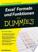 Excel Formeln und Funktionen f  r Dummies