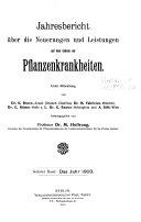 Jahresbericht über das Gebiet der Pflanzenkrankheiten