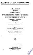 Safety in Air Navigation  Hearings  Jan  22 31  1947 Book PDF