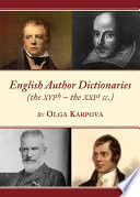 English Author Dictionaries  the XVIth     the XXIst cc
