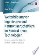 Weiterbildung von Ingenieuren und Naturwissenschaftlern im Kontext neuer Technologien