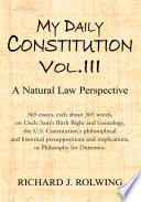My Daily Constitution Vol  III