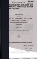 Combating Multilateral Development Bank Corruption:... S. Hrg. 108-734, July 21, 2004, 108-2 Hearing, *