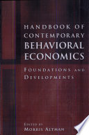 Handbook Of Contemporary Behavioral Economics book