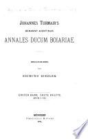 Johannes Turmair's genannt Aventinus sämmtliche Werke