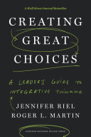Creating Great Choices Book