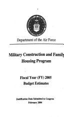 Military Construction Appropriations for 2005