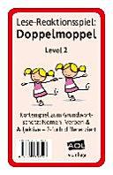 Lese-Reaktionsspiel: Doppelmoppel Level 2